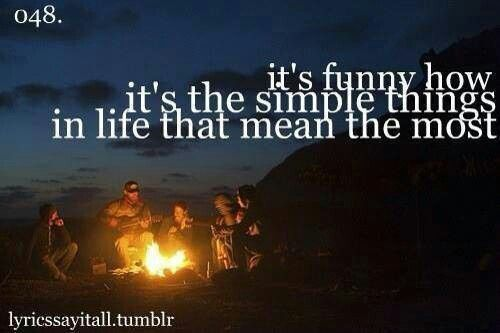 The simple things in life lyrics