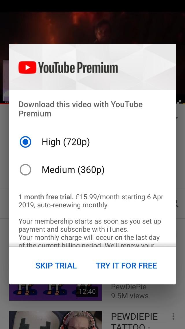 Youtube download free trial