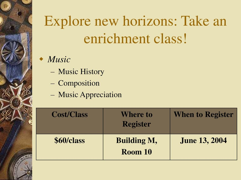 New horizons in music appreciation
