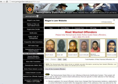 Pa sex offenders search